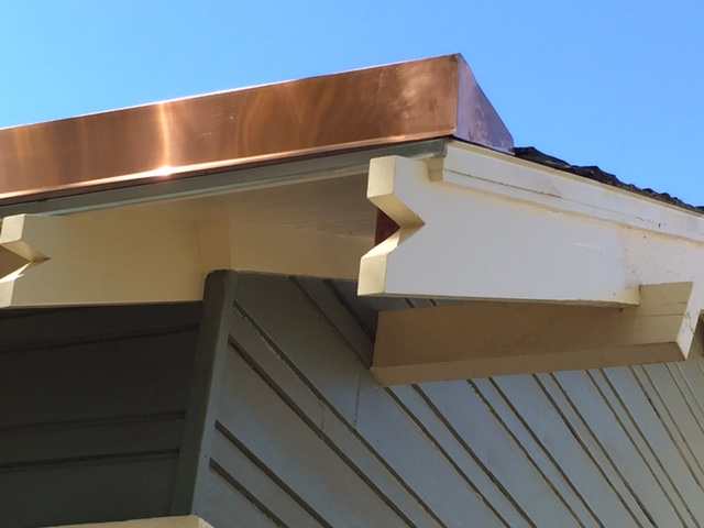 Custom Copper Gutter