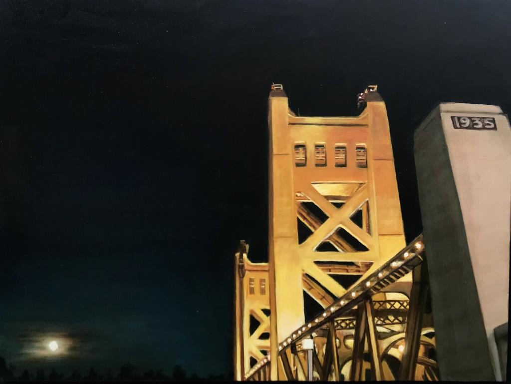 Tower Bridge With Full Moon